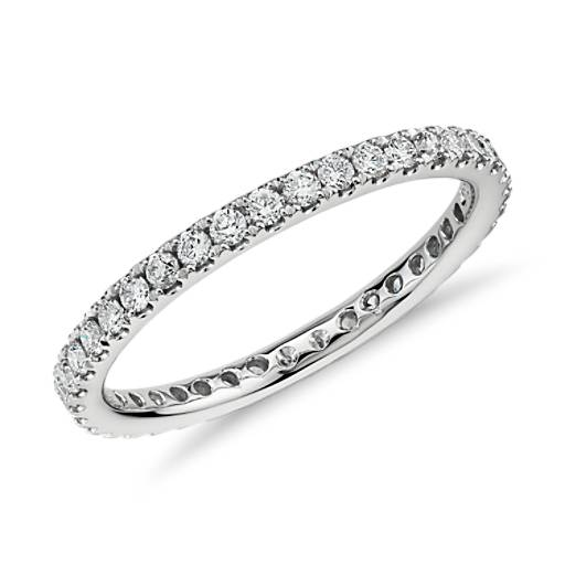 Riviera Pave Diamond Eternity Ring in 14k White Gold (1/2 ct. tw.)