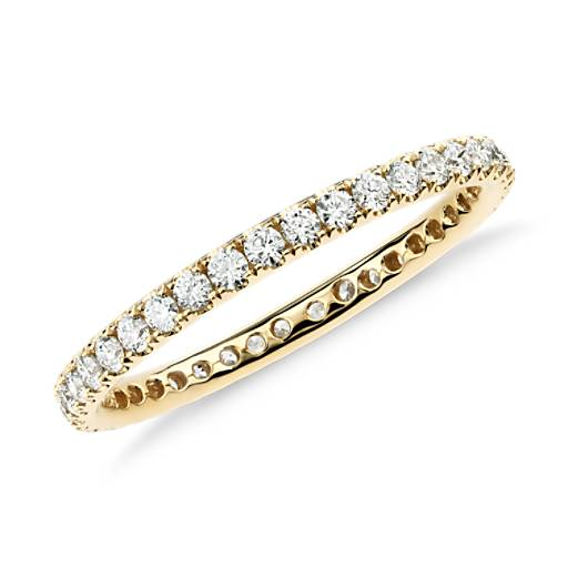 NEW Riviera Pavé Diamond Eternity Ring in 18k Yellow Gold (1/2 ct. tw.)