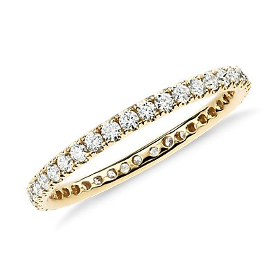 NEW Riviera Pavé Diamond Eternity Ring in 18k Yellow Gold