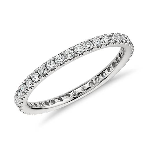 Riviera Pave Diamond Eternity Ring in Platinum  (1/2 ct. tw.)