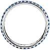 Riviera Pavé Sapphire Eternity Ring in 18k White Gold (1.5mm)