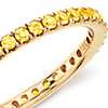 Riviera Pavé Yellow Sapphire Eternity Ring in 18k Yellow Gold