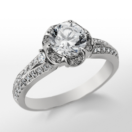 Monique Lhuillier Flower Engagement Ring
