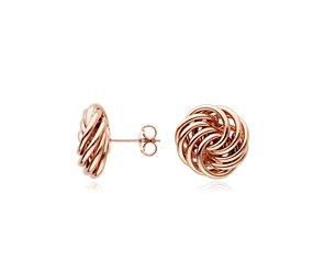 Rosetta Knot Earrings in 14k Rose Gold