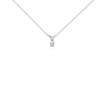 Colgante de diamante solitario en oro blanco de 14k (1/3 qt. total)