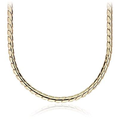 NEW Round Victoria Chain Necklace in Yellow Gold Vermeil