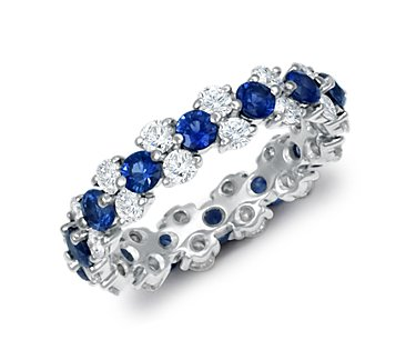 Garland Sapphire and Diamond Eternity Ring