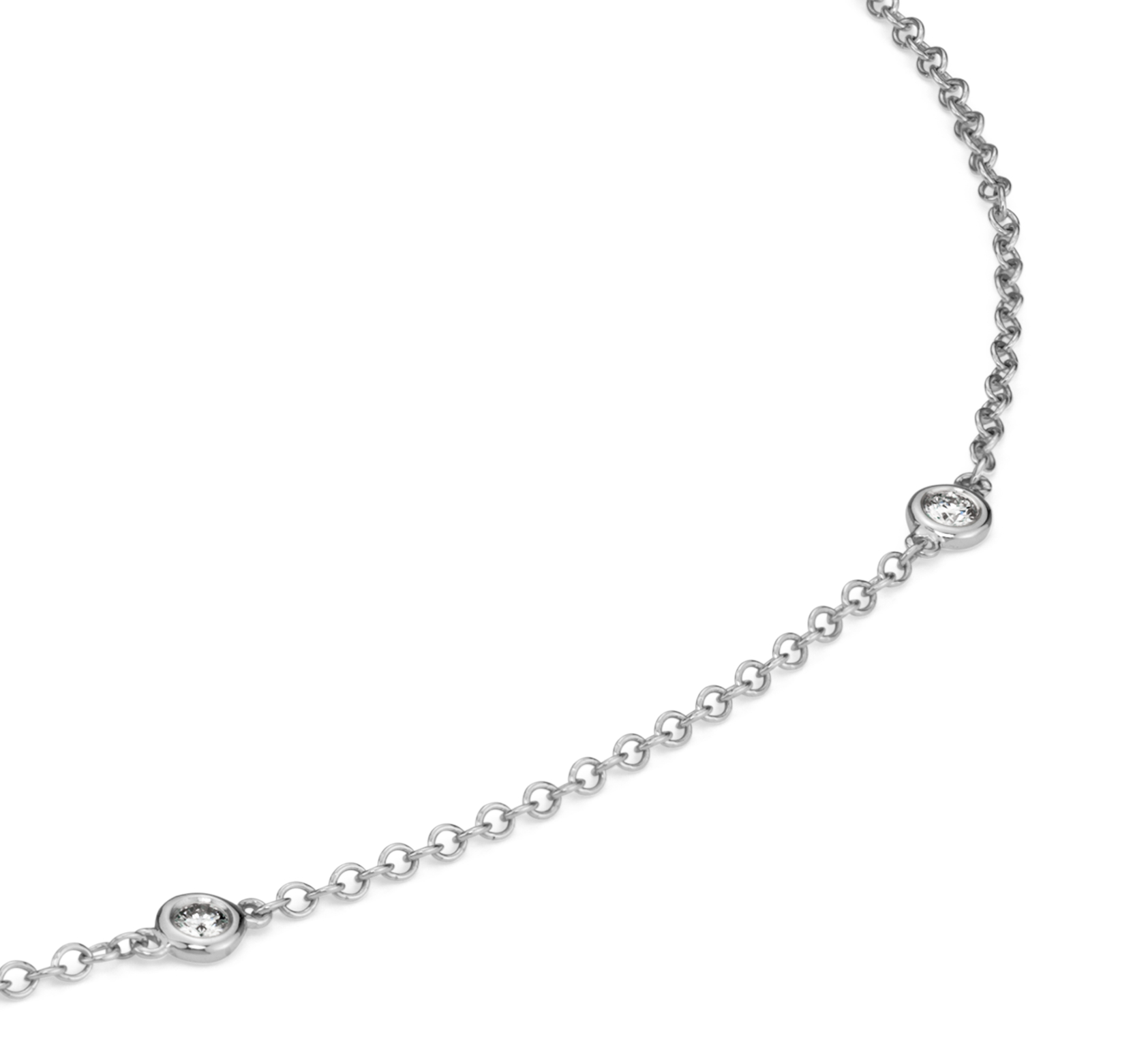 Colgante redondo de diamante y zafiro en oro blanco de 14k (6 mm)