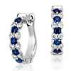Sapphire and Diamond Garland Hoop Earrings in 18k White Gold