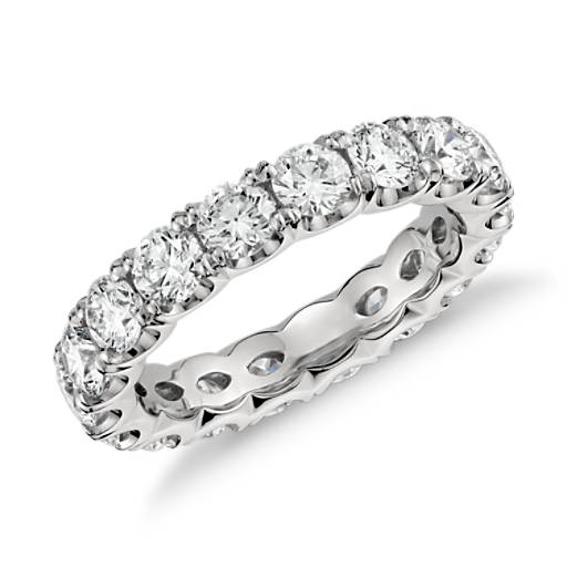 Scalloped Claw Diamond Eternity Ring in Platinum (3 ct. tw.)