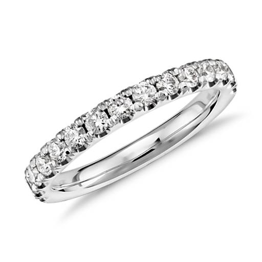 Scalloped Pave Diamond Ring in 18k White Gold (1/2 ct. tw.)