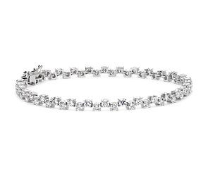 Scattered Diamond Bracelet in 18k White Gold