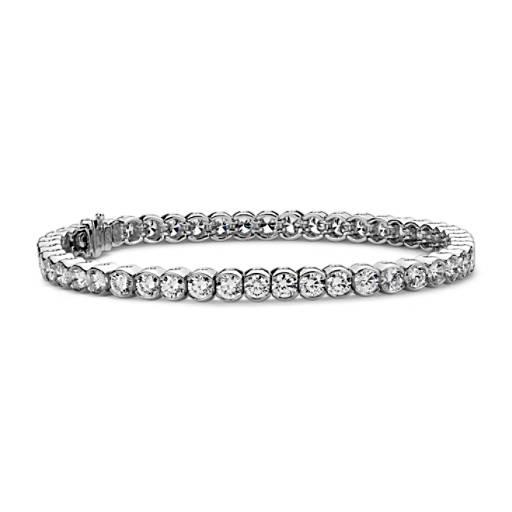 Semi-Bezel Diamond Bracelet in Platinum (7 ct. tw.)