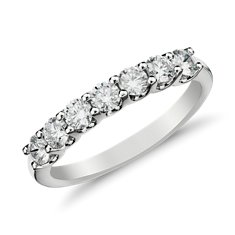 U-Prong Seven-Stone Diamond Ring in 14k White Gold (1/2 ct. tw.)