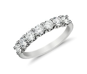 U-Prong Seven-Stone Diamond Ring in 14k White Gold (1 ct. tw.)