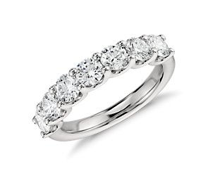 U-Prong Seven Stone Diamond Ring in Platinum (1.5 ct tw)