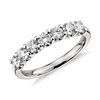 U-Prong Seven Stone Diamond Ring in Platinum (1 qt. total)