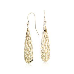 NEW Shimmer Teardrop Earrings in 14k Yellow Gold