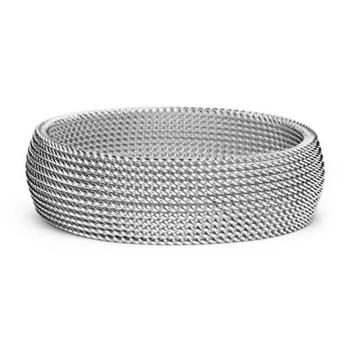 Bracelet large en maille en argent sterling