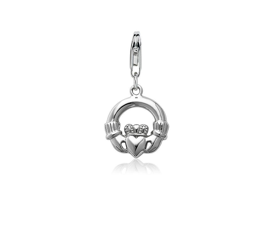 Claddagh Charm in Sterling Silver