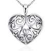 Filigree Heart Pendant in Sterling Silver