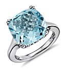 Sky Blue Topaz Ring in Sterling Silver