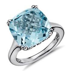 Revised Sky Blue Topaz Ring in Sterling Silver
