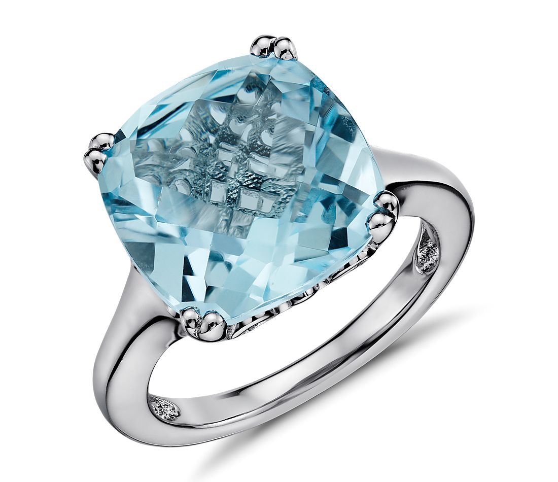 Sky Blue Topaz Cocktail Ring in Sterling Silver