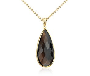 Smokey Quartz Pendant in Gold Vermeil