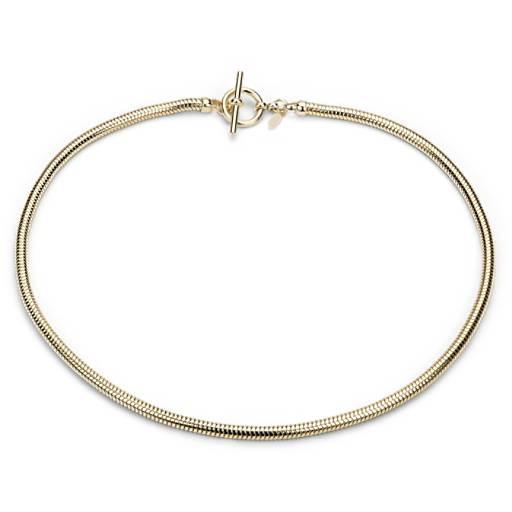 Collier chaîne serpent en vermeil or jaune 18carats
