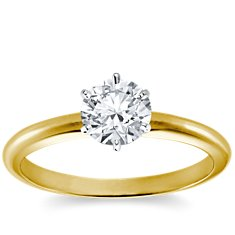 Classic Six Prong Engagement Ring in 18k Yellow Gold