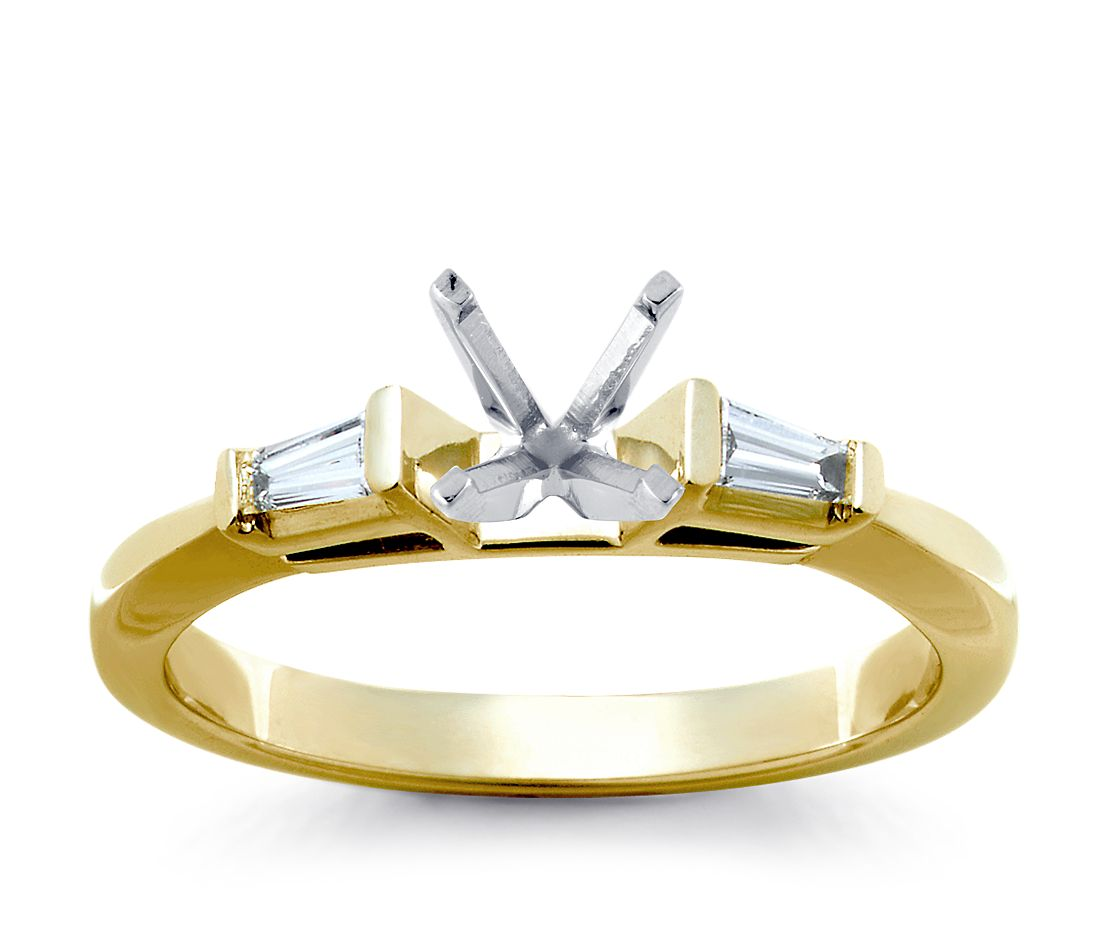 White Gold Bands: Classic Four Prong Engagement Ring In 14k White Gold