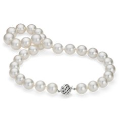 South Sea Cultured Pearl Strand Necklace en Or blanc 14 ct (12.1-15.4mm)