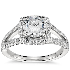 Monique Lhuillier Twist Cathedral Diamond Engagement Ring