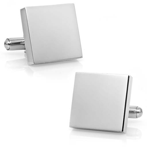 Square Cuff Links in Stainless Steel