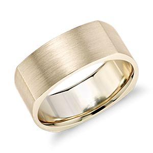 Matte Two Tone Eurofit Wedding Ring In 14k White And Rose