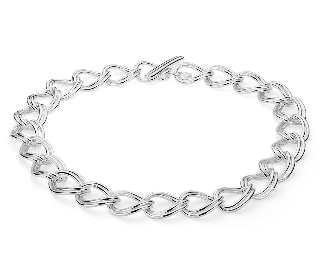 Statement Linked Necklace in Sterling Silver