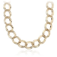 Statement Linked Necklace in Plata bañada en oro amarillo de 18 k