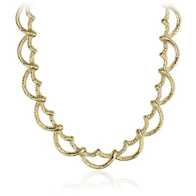 Textured Statement Necklace in 18k Yellow Gold