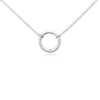 Mini Sparkle Circle Pendant in Sterling Silver