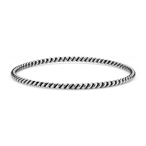 Roped Bangle Bracelet in Sterling Silver