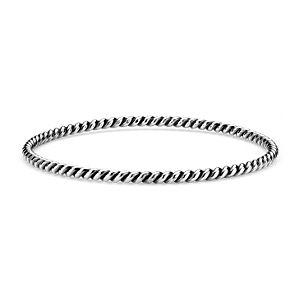 Bracelet jonc corde en argent sterling