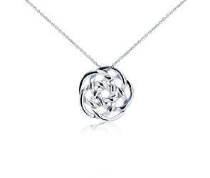 Infinity Rings Medallion Pendant in Sterling Silver