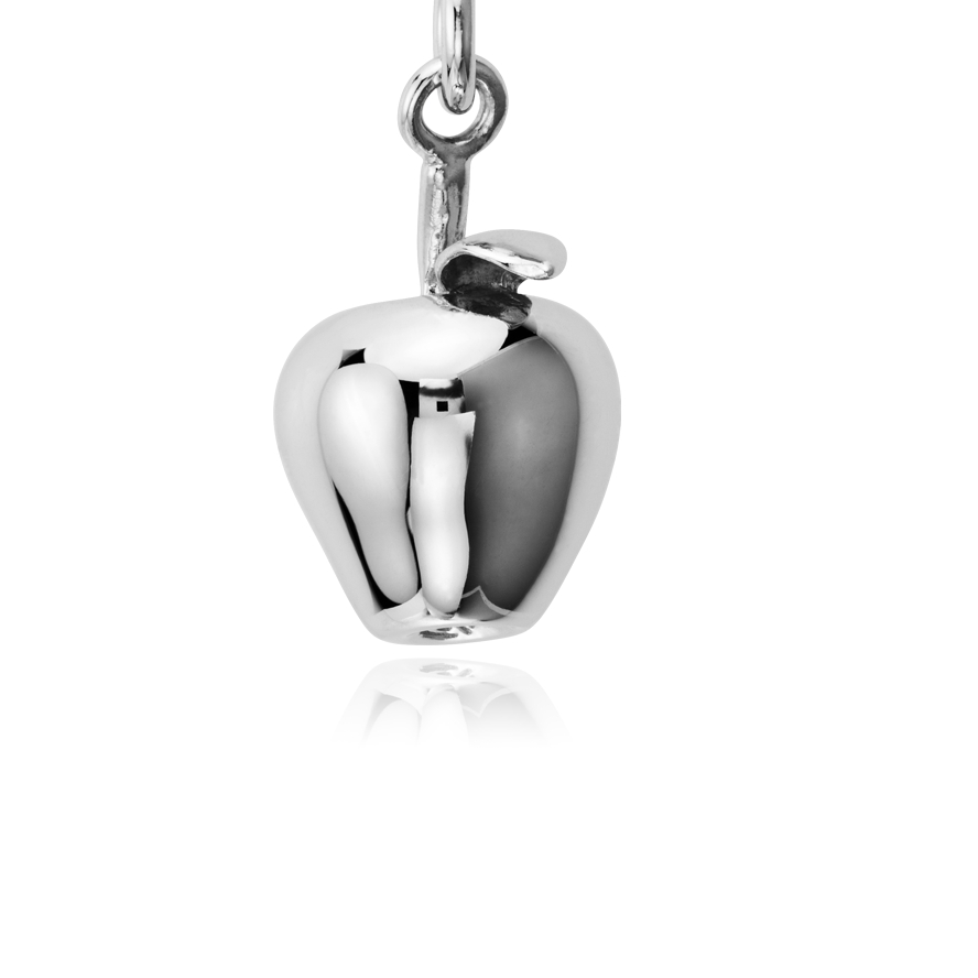 Apple Charm in Sterling Silver