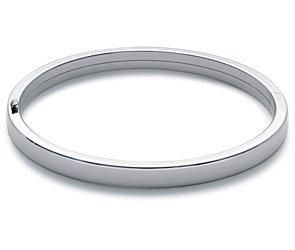 Bracelet jonc plat en argent sterling