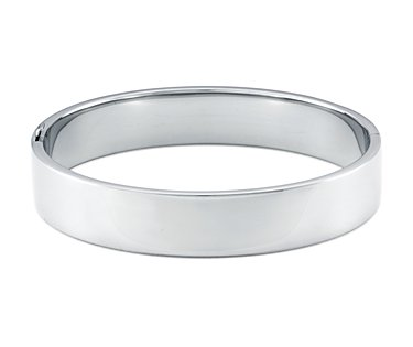 Wide Bangle Bracelet in Sterling Silver