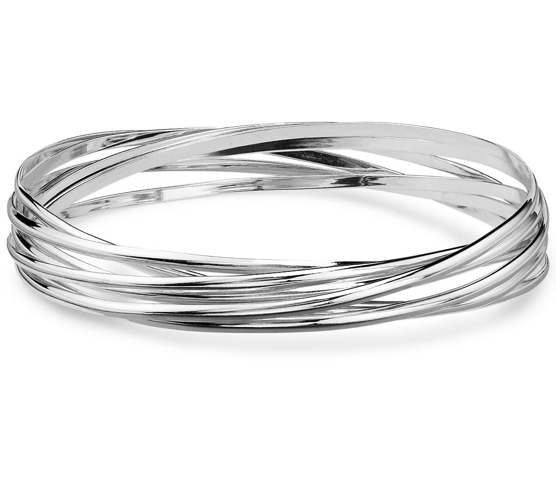 Ensemble Bangle Bracelets in Sterling Silver
