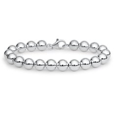 Bead Bracelet in Sterling Silver (8mm)