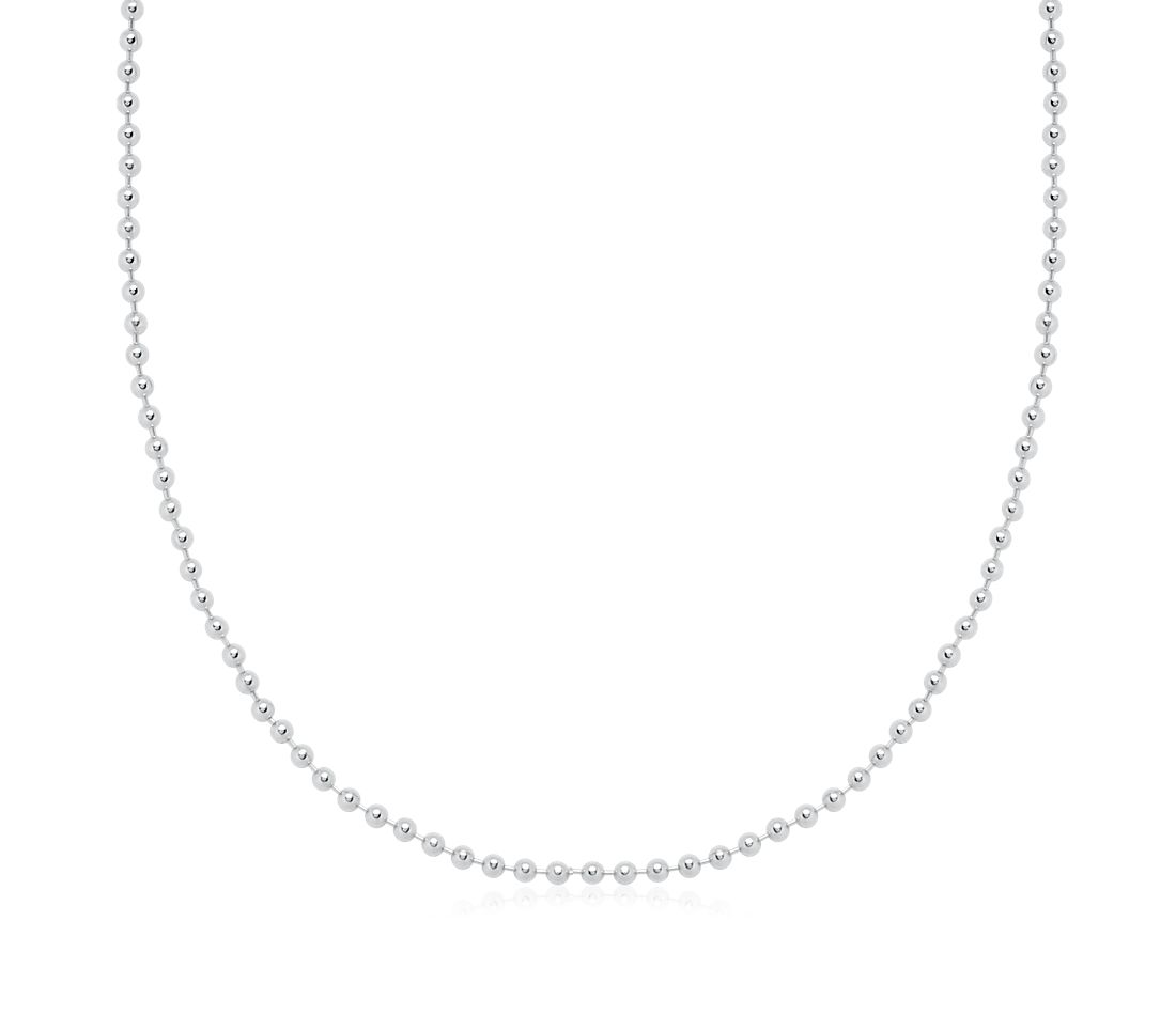beaded chain in sterling silver blue nile