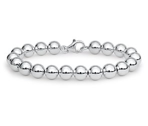 Beaded Bracelet in Sterling Silver (8mm)